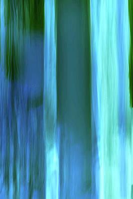 Digital Art - Moving Trees 37-14portrait Format by Gene Norris