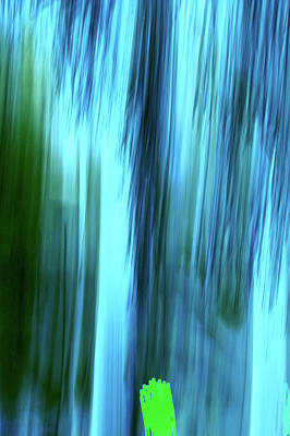 Digital Art - Moving Trees 37-15portrait Format by Gene Norris