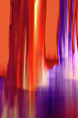 Digital Art - Moving Trees 37-17portrait Format by Gene Norris