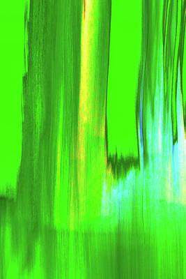 Digital Art - Moving Trees 37-18 Portrait Format by Gene Norris