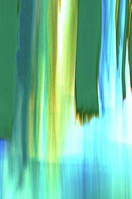 Digital Art - Moving Trees 37-19 Portrait Format by Gene Norris