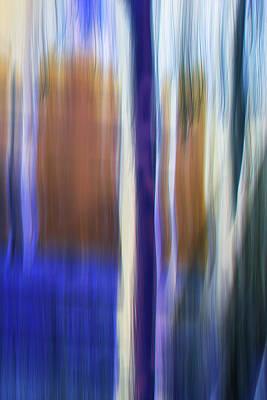 Digital Art - Moving Trees 37-30 Portrait Format by Gene Norris