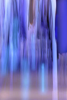 Digital Art - Moving Trees 37-33 Portrait Format by Gene Norris