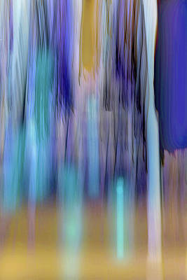 Digital Art - Moving Trees 37-35 Landscape Format by Gene Norris