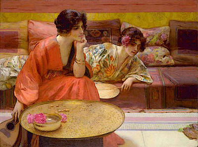 Idle Hour Digital Art - Mowbray Henry Siddons Idle Hours by Henry Siddons Mowbray