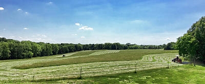 Photograph - Mowing The Hayfield by Cricket Hackmann