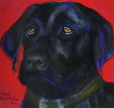 Painting - Moxie - Black Lab by Laura  Grisham