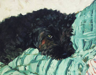 Painting - Moxie Naps by Lynn Gimby-Bougerol