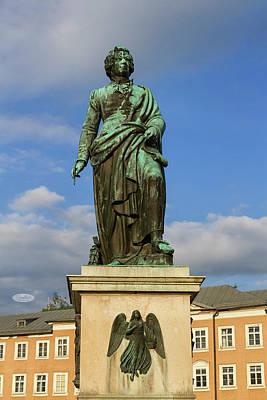 Photograph - Mozart Statue In Mozartplatz, Salzburg, Austria by Elenarts - Elena Duvernay photo