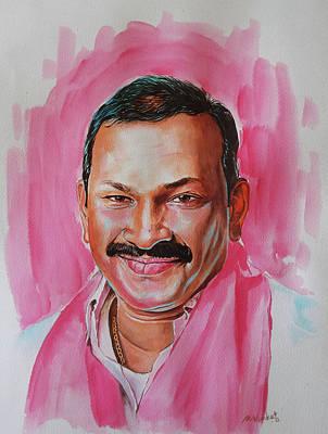 Mp Dayaker Anna Art Print by Venkat Meruvu