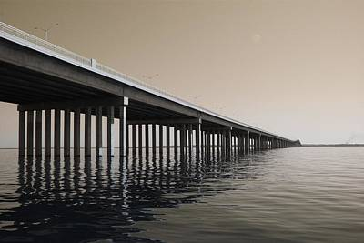 Mprints - Hwy 90 Bridge Art Print