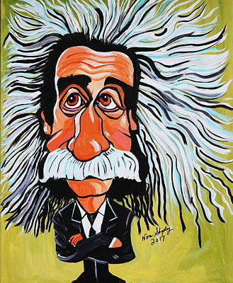 Painting - Mr Albert Einstein by Nora Shepley