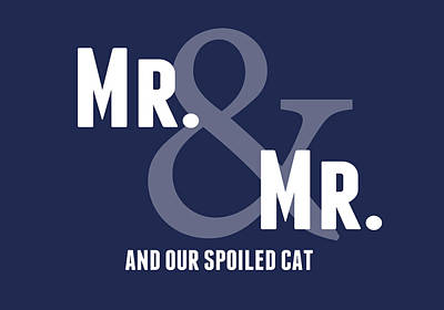 Mr And Mr And Cat Art Print by Linda Woods