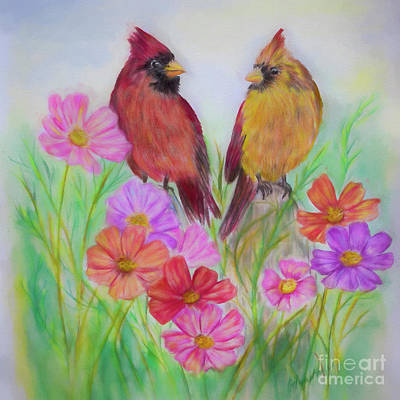 Painting - Mr And Mrs Cardinal by Olga Hamilton