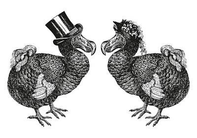 Mr And Mrs Dodo Art Print