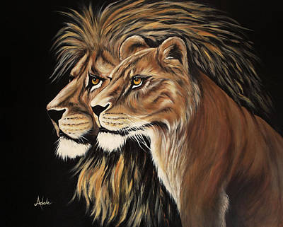 Painting - His And Her Majesty by Adele Moscaritolo
