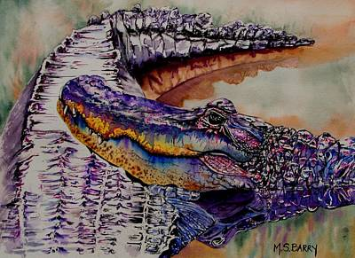 Alligator Painting - Mr And Mrs by Maria Barry