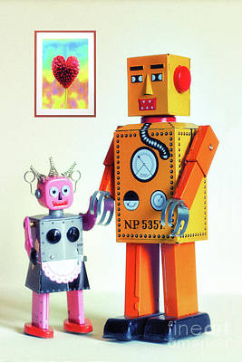 Photograph - Mr And Mrs Robot's Anniversary by Toula Mavridou-Messer
