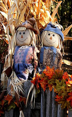 Photograph - Mr. And Mrs. Scarecrow by Sheila Brown