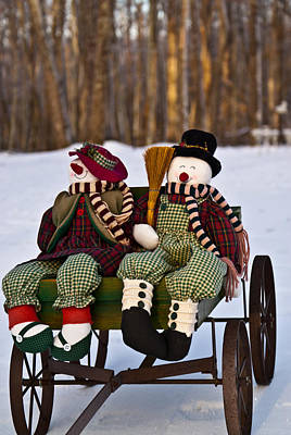 Tennessee Photograph - Mr And Mrs Snowpersons 1 by Douglas Barnett