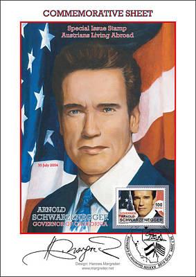 Painting - Mr. Arnold Schwarzenegger by Johannes Margreiter
