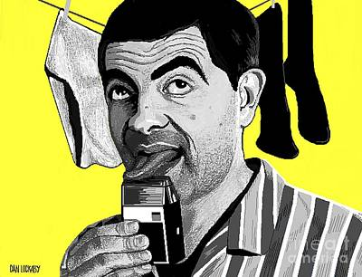 Electric Razor Digital Art - Mr. Bean by Dan Lockaby