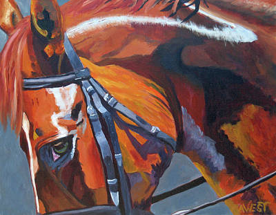 Chestnut Horse Painting - Mr. Big Stuff by Anne West