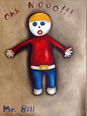 Claymation Painting - Mr. Bill by Leah Saulnier The Painting Maniac