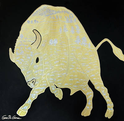 Painting - Mr Bison by Gina De Gorna