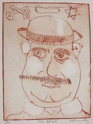 Drawing - Mr Bloom Greeting Card by Roger Cummiskey