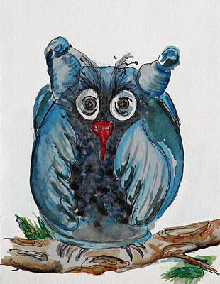 Mr. Blue Owl Art Print