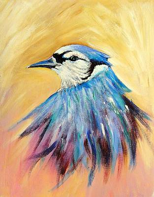 Art Print featuring the painting Mr. Blue by Patricia Piffath