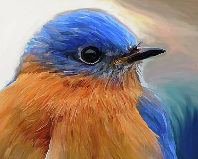 Bluebird Wall Art - Painting - Mr. Blue by Patti Siehien
