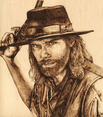 Old Tv Drawing - Mr. Bohannon, Hell On Wheels by Laura Lobner