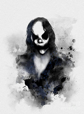 Supernatural Mixed Media - Mr Boogie by Rebecca Jenkins
