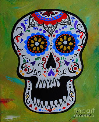 Painting - Mr Calavera by Pristine Cartera Turkus