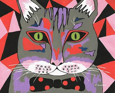 Painting - Mr Cat by Kathleen Sartoris