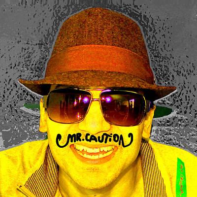 Photograph - mr caution Portrait by Mr Caution