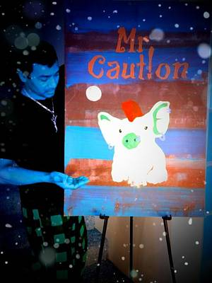 Painting - Mr Caution Selfie by Mr Caution