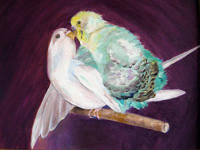 Mr Chan And Ms Powderpuff Art Print by Lisa Boyd