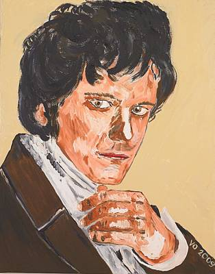Mr. Darcy Art Print by Valerie Ornstein