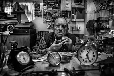 Watch Photograph - Mr. Domenico L'orologiaio by Antonio Grambone