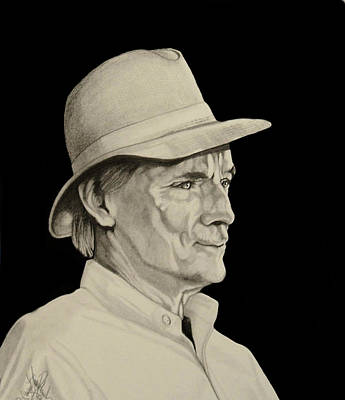 Drawing - Mr. Don Harris - Saddlebred Legend by Cheryl Poland
