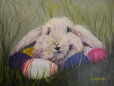Painting - Mr. Easter Bunny by Cheryl Damschen