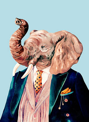 Painting - Mr Elephant by Animal Crew