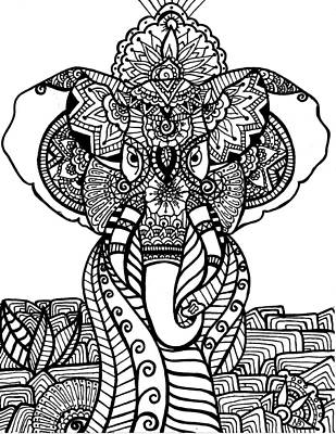 Drawing - Mr. Elephante by Nicole Dumond-Barry