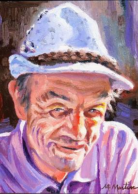 Mike Martin Painting - Mr. Faltin by Mike Martin