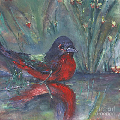Art Print featuring the painting Mr. Finch by Helena Bebirian
