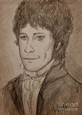 Royalty-Free and Rights-Managed Images - Mr Fitzwilliam Darcy Sepia by Joan-Violet Stretch
