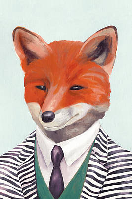 Office Decor Painting - Mr Fox by Animal Crew